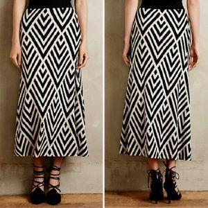 NWOT ANTHROPOLOGIE Chevron Maxi Skirt
